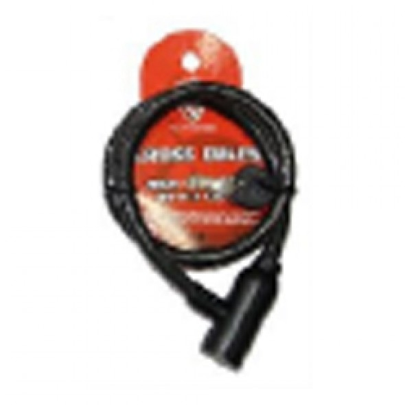 SP LOCK CABLE WITH KEY BLACK 8209-IMP