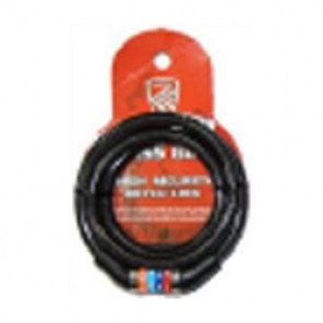 SP LOCK SPIRAL CABLE COMBINATION BK-IMP