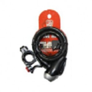 SP LOCK SPIRAL CABLE WITH KEY BK 8210-IMP